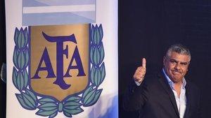 Claudio Tapia, presidente de la AFA