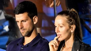 Djokovic, junto a su mujer Jelena