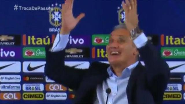La efusiva reacción de Tite con la clasificación de Brasil