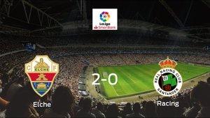El Elche vence 2-0 en su estadio frente al Racing de Santander