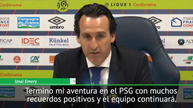 Emery no se pudo despedir del PSG con una victoria