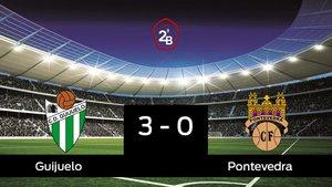 El Guijuelo derrota en casa al Pontevedra por 3-0