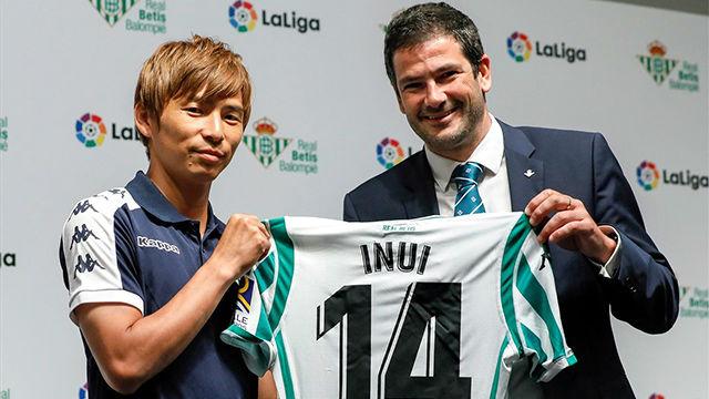 Inui, presentado como nuevo jugador del Betis