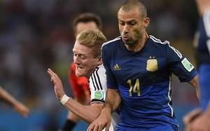 Javier Mascherano, en un partido de la selecció argentina