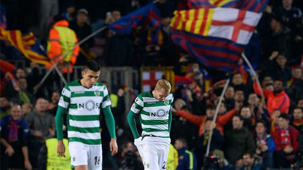 LACHAMPIONS | FC Barcelona - Sporting (2-0): El gol de Mathieu en propia puerta