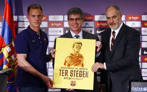 Las imágenes de la presentación de Ter Stegen