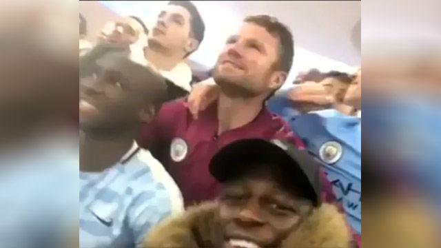 Los jugadores del City realizaron cánticos sobre el United