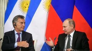 Macri mantuvo una cumbre con Putin en Moscú