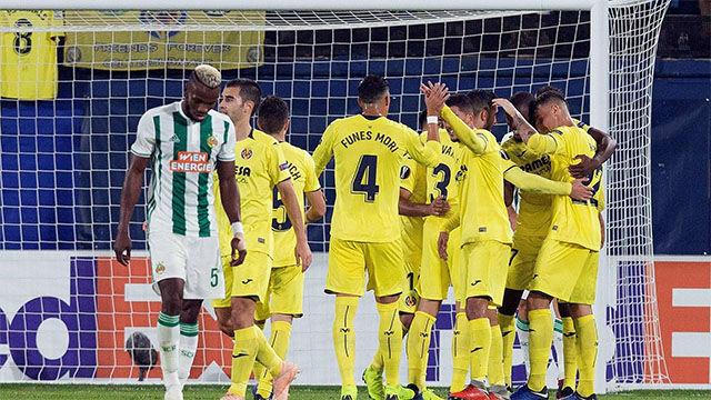 La manita del Villarreal al Rapid de Viena