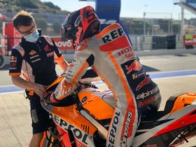 Márquez vuelve a la pista en Jerez