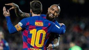 Messi se despide de Arturo Vidal