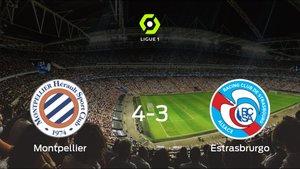 El Montpellier HSC logra la victoria frente al Racing Estrasburgo (4-3)