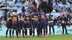 El once del Barça en Vigo