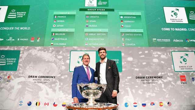 Piqué, protagonista en el sorteo de las finales de la Copa Davis