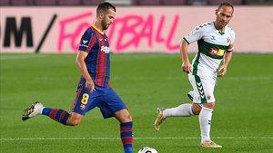 Pjanic jugó la última media hora del Gamper