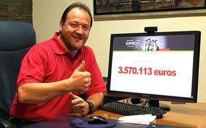 Premio millonario para la peña de Eduardo Losilla