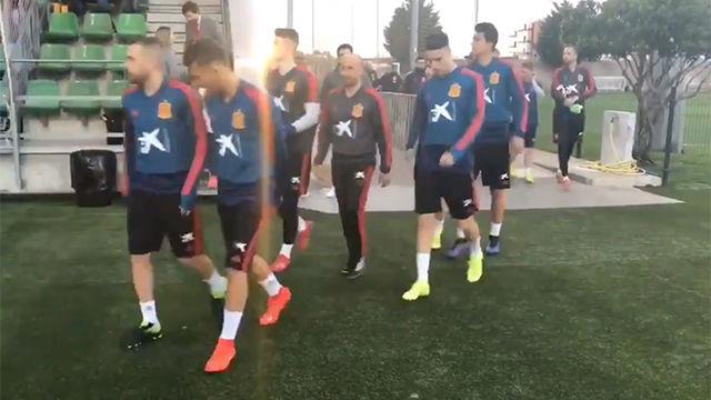 La selección española ha entrenado en Las Rozas