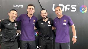 Sergio Lozano y Ferrao junto a Valdin y Gian Wolverine, de Carlos Barbosa
