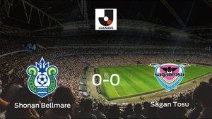 El Shonan Bellmare y el Sagan Tosu concluyen su enfrentamiento en el Shonan BMW Stadium Hiratsuka sin goles (0-0)