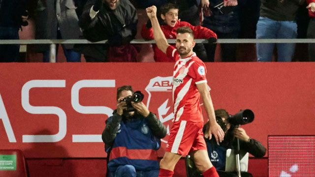 Stuani marcó el único gol del Girona en la remontada del Athletic