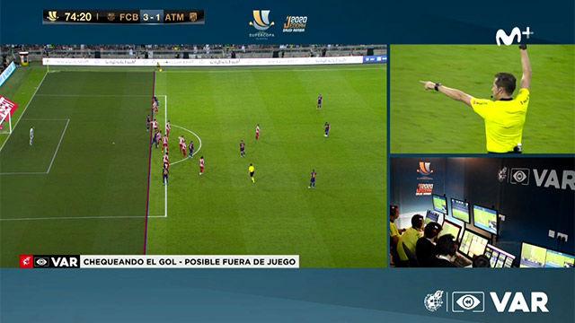 El VAR evitó que Piqué sentenciara al Atlético de Madrid