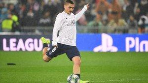 Verratti sigue sin poder entrar en el PSG, lesionado