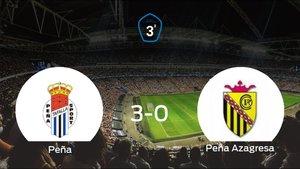 Victoria para la Peña Sport tras golear 3-0 a la Peña Azagresa
