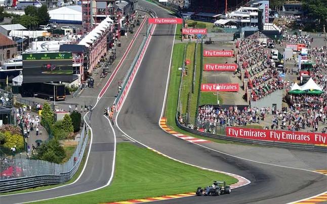 El circuito de Spa Francorchamps acoge el GP de Bélgica de F1