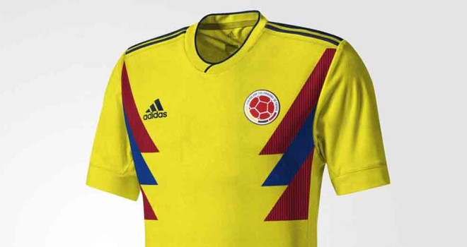 newest 2e9cd df769 James Rodríguez presents Colombia's new World Cup 2018 kit