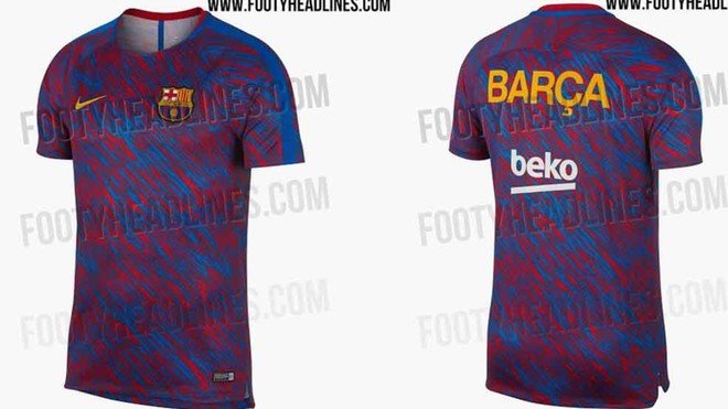brand new d5e5a 31467 Images of Barcelona's groundbreaking new training shirt ...