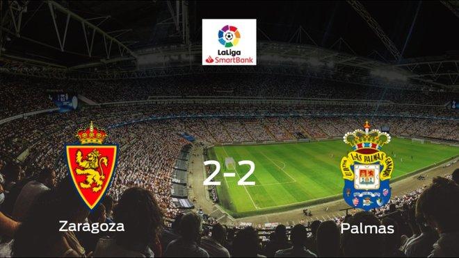 Reparto de puntos entre el Real Zaragoza y Las Palmas (2-2)