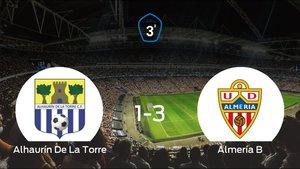 El Almería B se queda con los tres puntos después de derrotar 1-3 al Alhaurín De La Torre