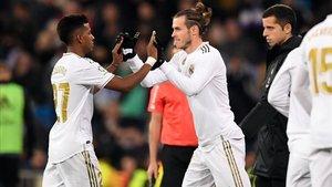 Bale sustituyó a Rodrygo en el minuto 66 y fue silbado en el Bernabéu