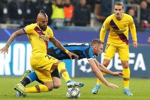 El Barça jugó sin Messi en San Siro