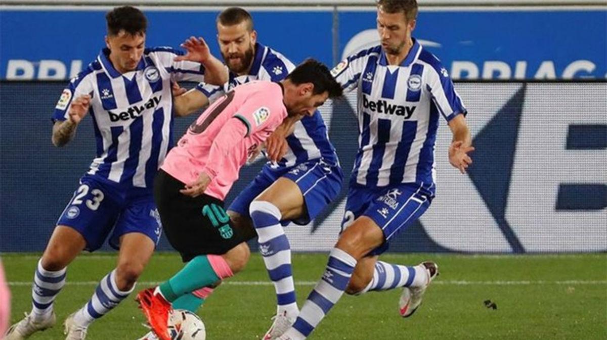 El Barça no tuvo el premio que merecía en Mendizorroza