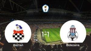 El Baztan y el FC Bidezarra empatan a uno en el Giltxaurdi