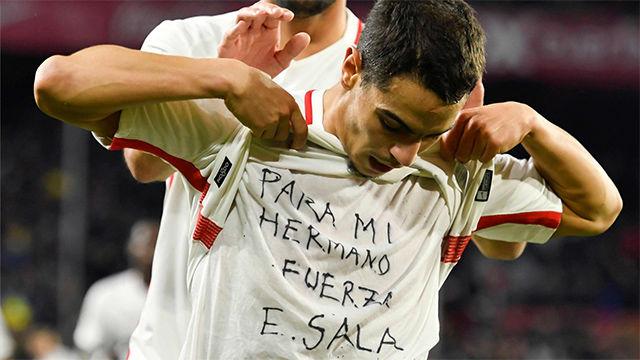 Ben Yedder dedicó su gol a Emiliano Sala