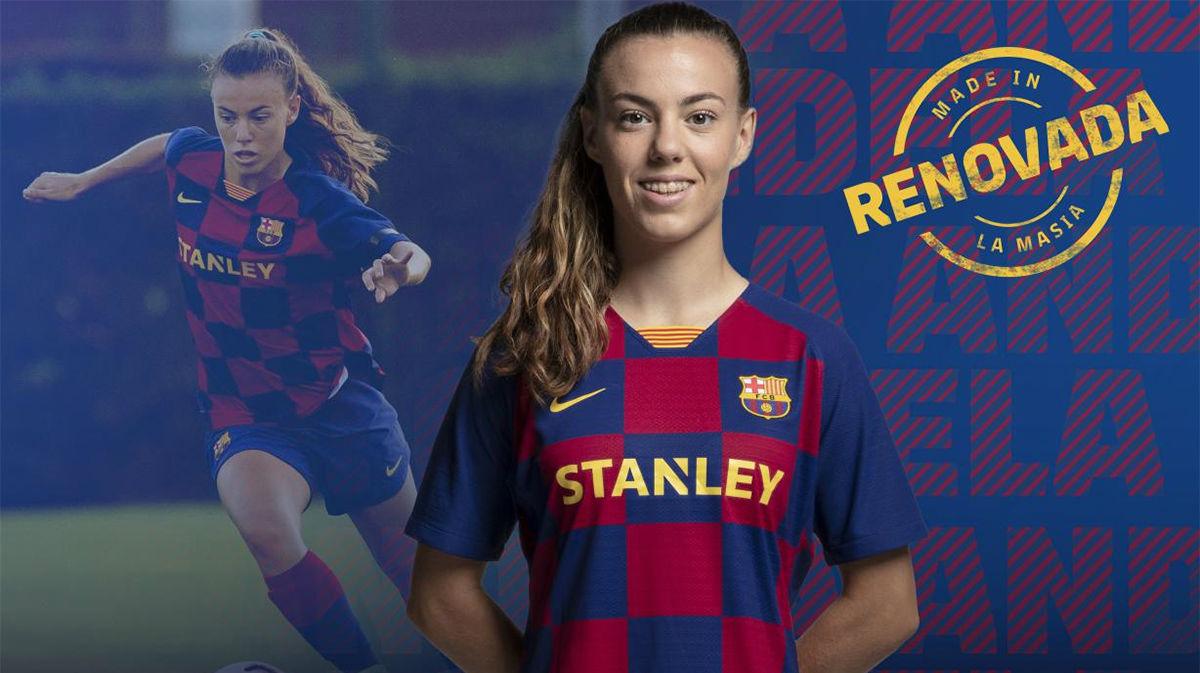 Candela Andújar renueva con el Barça hasta 2022