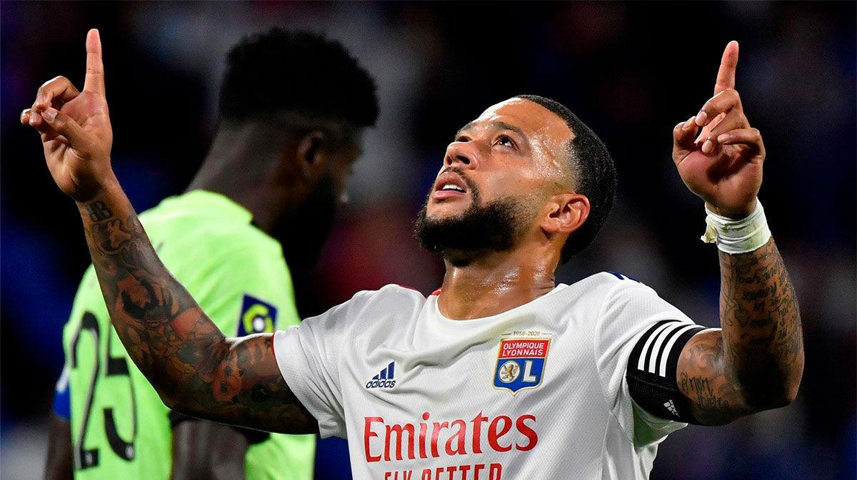 Depay fue el protagonista de la victoria del Lyon