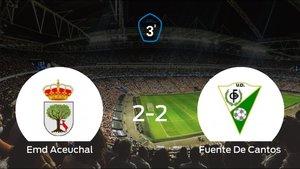 El Emd Aceuchal y la UD Fuente De Cantos empatan y se llevan un punto (2-2)