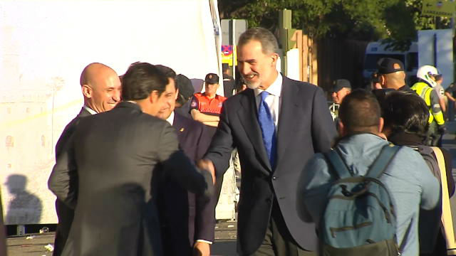Felipe VI, pitado a su llegada al Villamarín