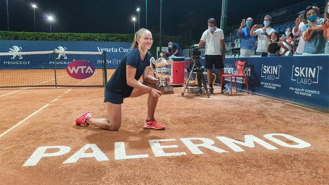 Fiona Ferro, campeona del WTA de Palermo