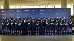 La formación del Movistar será ampliada para acoger un equipo de chicas en 2018