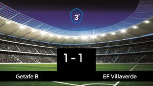 El Getafe B empató ante el Villaverde (1-1)