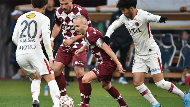 Gran jugada de Iniesta en el empate del Vissel Kobe ante Yokohama