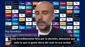 Guardiola, aliviado por la decisión del TAS: Deberíamos recibir una disculpa