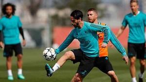 Isco y Sergio Ramos participaron en el entrenamiento