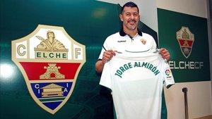 Jorge Almirón, el día de su presentación como nuevo técnico del Elche