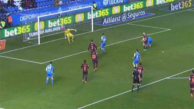 LALIGA | Deportivo - FC Barcelona (2-4): El gol de Lucas