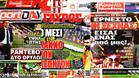 Las portadas de la prensa griega mostrando su expectación ante el Olympiacos-Barça de la Champions 2017/18